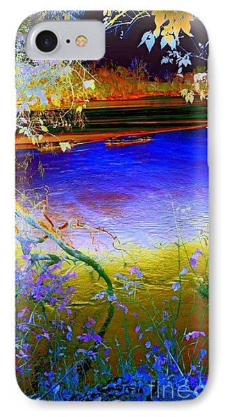 Kansas River 2 IPhone Case by Karen Newell