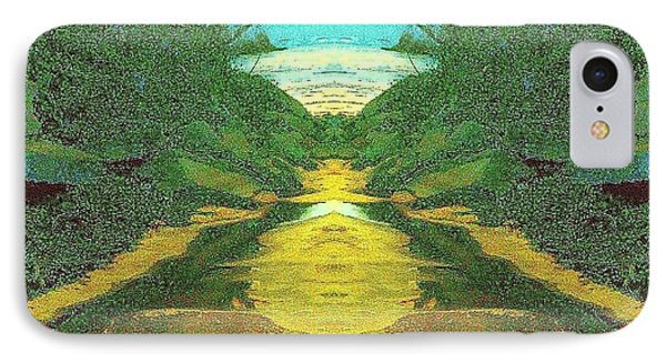 Kansas River IPhone Case by Karen Newell