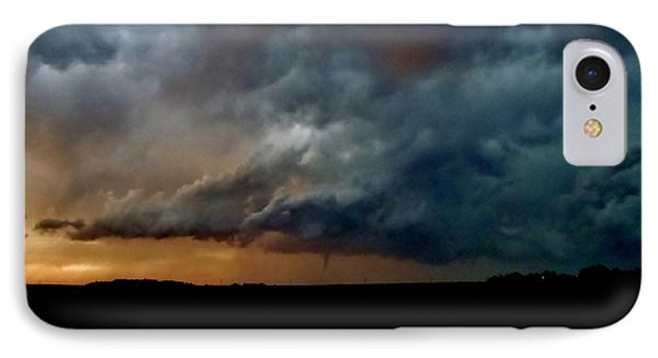 IPhone Case featuring the photograph Kansas Tornado At Sunset by Ed Sweeney