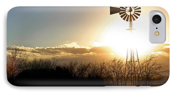 IPhone Case featuring the photograph Kansas Windmill by Christopher McKenzie