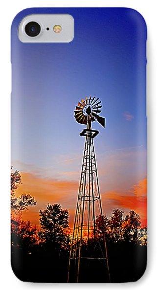 Kansas Windmill In The Sunset IPhone Case