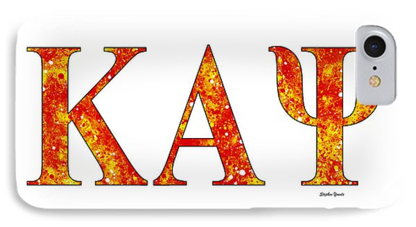 Kappa Alpha Psi - White IPhone Case by Stephen Younts