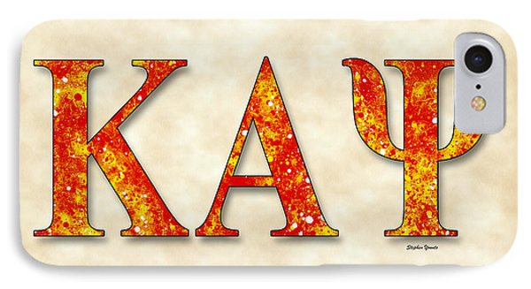 Kappa Alpha Psi - Parchment IPhone Case by Stephen Younts