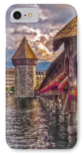 IPhone Case featuring the photograph Kapellbruecke by Hanny Heim