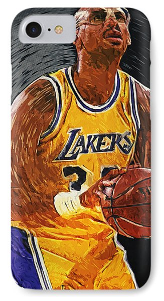 Kareem Abdul-jabbar IPhone Case by Taylan Apukovska