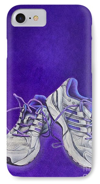 IPhone Case featuring the painting Karen's Shoes by Pamela Clements
