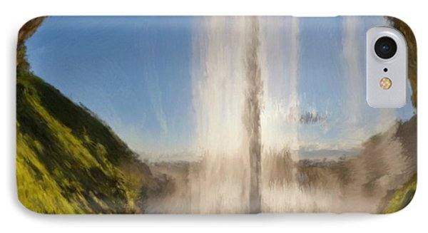 IPhone Case featuring the painting Karen's Waterfalls by Bruce Nutting