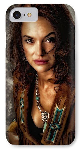 IPhone Case featuring the photograph Karina - Indian Jacket ... by Chuck Caramella