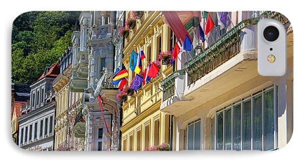 Karlovy Vary Phone Case by Mariola Bitner