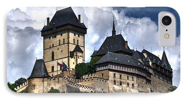 IPhone Case featuring the photograph Karlstejn Castle In Prague 2 by Joe  Ng