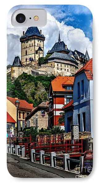 IPhone Case featuring the photograph Karlstejn Castle In Prague  by Joe  Ng