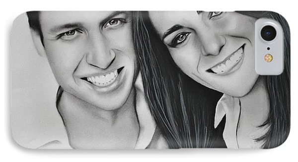 Kate And William Phone Case by Samantha Howell