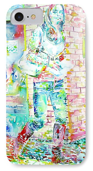 Kate Middleton Portrait.3 Walking In The Street Phone Case by Fabrizio Cassetta