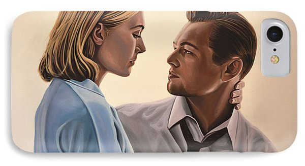 Kate Winslet And Leonardo Dicaprio IPhone Case by Paul Meijering