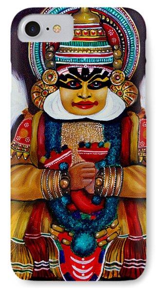 IPhone Case featuring the painting kathakali.. Lord Shiva by Saranya Haridasan