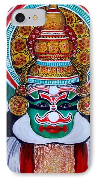 IPhone Case featuring the painting kathakali..Duryodhana by Saranya Haridasan