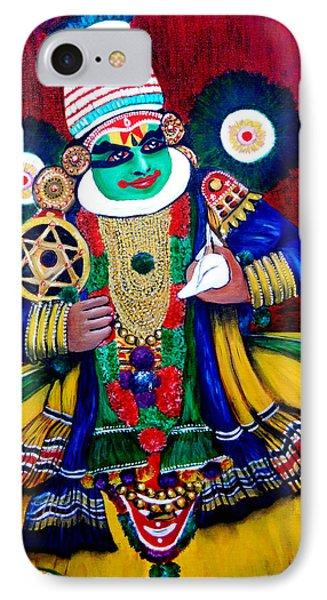 IPhone Case featuring the painting Kathakali..lord Krishna by Saranya Haridasan
