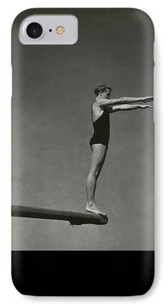 Katherine Rawls Getting Ready To Dive IPhone Case by Edward Steichen