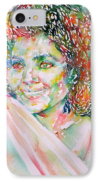 Kathleen Battle - Watercolor Portrait Phone Case by Fabrizio Cassetta