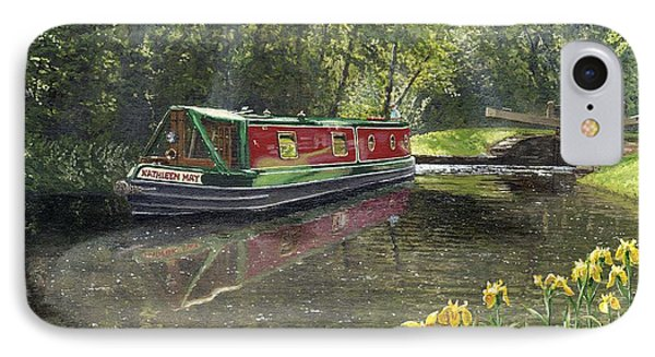 Kathleen May Chesterfield Canal Nottinghamshire Phone Case by Richard Harpum