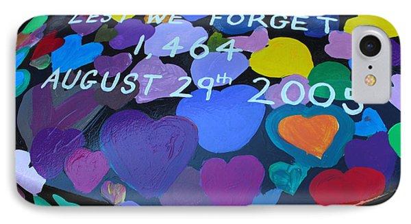 Katrina Casket Memorial Inscription IPhone Case by Bev Conover