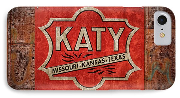 Katy Railroad Sign Dsc02853 IPhone Case by Greg Kluempers