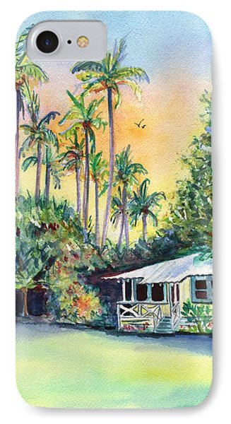 Kauai West Side Cottage IPhone Case by Marionette Taboniar