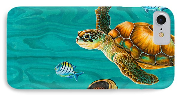 Kauila Sea Turtle Phone Case by Emily Brantley