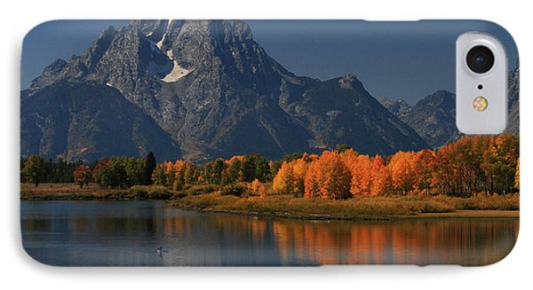 Kayak At Oxbow Bend IPhone Case by Clare VanderVeen