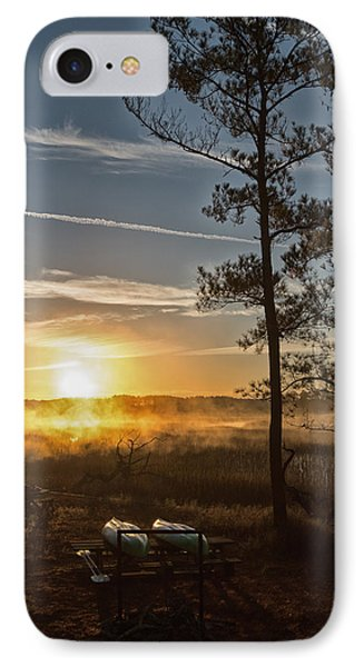 IPhone Case featuring the photograph Kayak Morning by Margaret Palmer