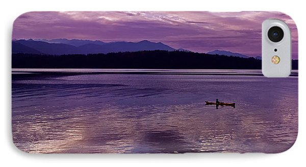 IPhone Case featuring the photograph Kayak On Dabob Bay by Greg Reed