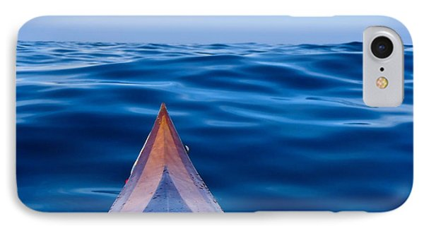Kayak On Velvet Blue IPhone Case by Michael Cinnamond