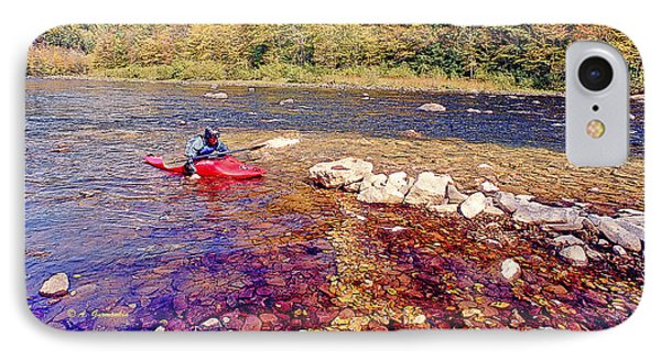 Kayaker Running A River IPhone Case by A Gurmankin