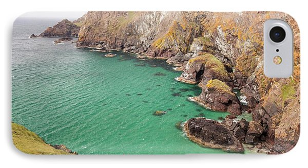 Kayakers In A Cove Near Mullion Cove IPhone Case