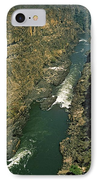 Kayakers Paddle Down The Zambezi Gorge IPhone Case by Panoramic Images