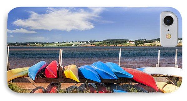 Kayaks At Atlantic Shore  IPhone Case by Elena Elisseeva