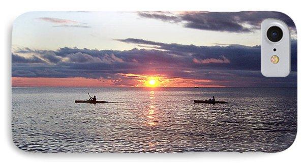 Kayaks At Sunset IPhone Case