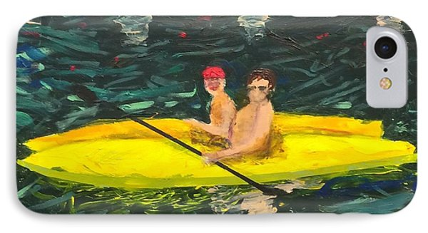 IPhone Case featuring the painting Kayaks by Donald J Ryker III