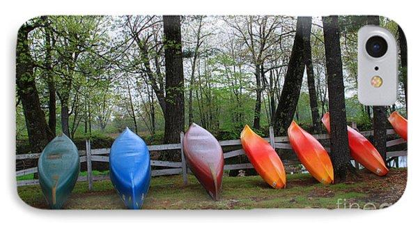Kayaks Waiting Phone Case by Michael Mooney