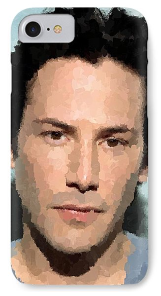 Keanu Reeves Portrait IPhone Case