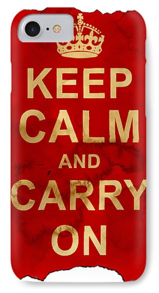 Keep Calm And Carry On  Phone Case by Nik Helbig