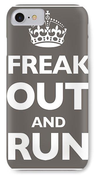 Keep Calm And Carry On Parody Brown Phone Case by Tony Rubino