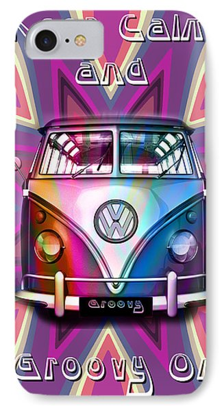 Keep Calm And Groovy On IPhone Case by Greg Sharpe
