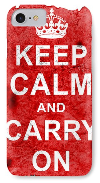 IPhone Case featuring the digital art Keep Calm Poster Torn by Nik Helbig