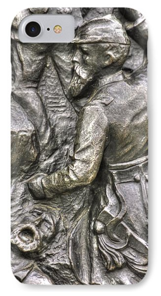 Keep Moving - Charge Of The 106th Pa Volunteer Infantry To The Emmitsburg Road Detail-a Gettysburg Phone Case by Michael Mazaika