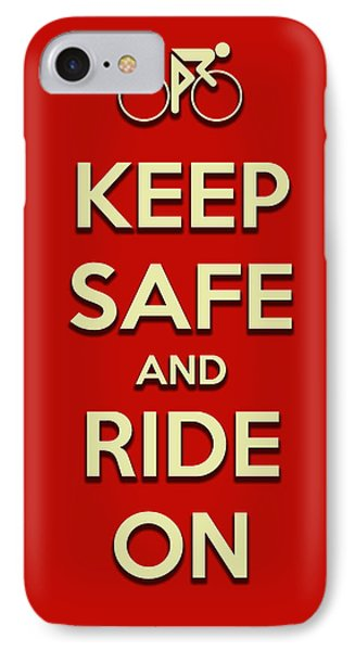 IPhone Case featuring the digital art Keep Safe And Ride On by Brian Carson