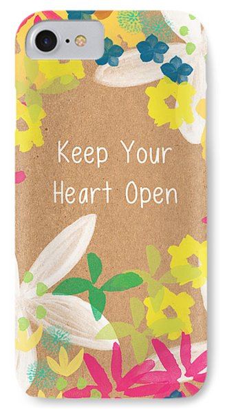 Keep Your Heart Open IPhone Case by Linda Woods