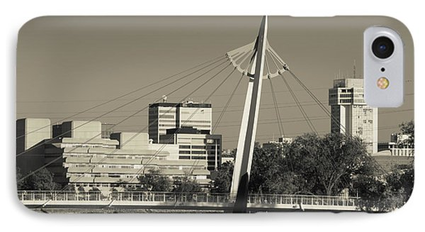 Keeper Of The Plains Footbridge IPhone Case by Panoramic Images