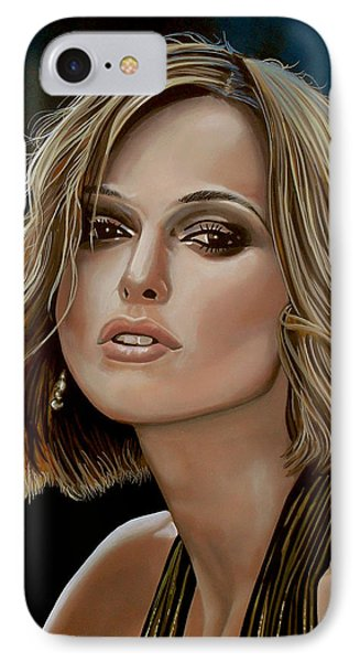 Keira Knightley IPhone Case by Paul Meijering