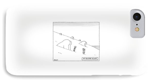 Keister Island -- Statues Of Butts Instead IPhone Case by Jack Ziegler